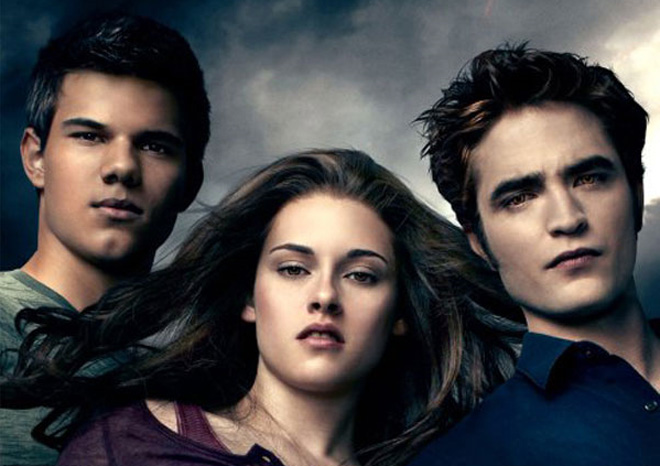 Robert Pattinson, Kristen Stewart and Taylor Lautner en los premios MTV Movie Awards 2010
