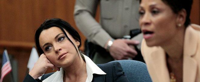 Lindsay lohan en el juicio