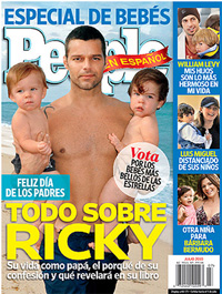 Ricky Martin con sus hijos y el novio