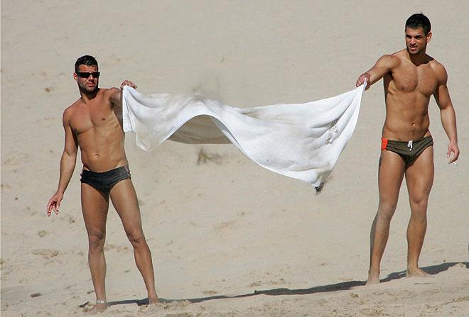 Ricky Martin con el novio