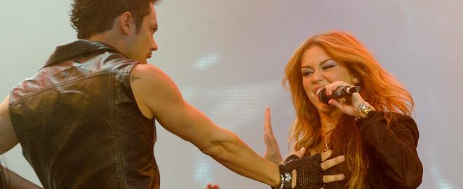 Miley Cyrus en el rock in rio madrid 2010