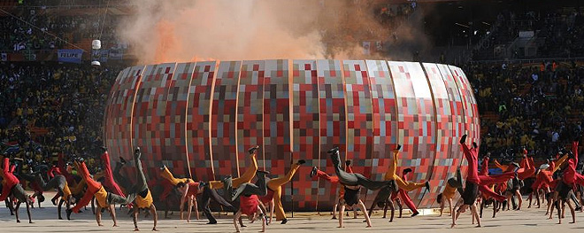 La ceremonia de apertura del Mundial 2010 decepciona
