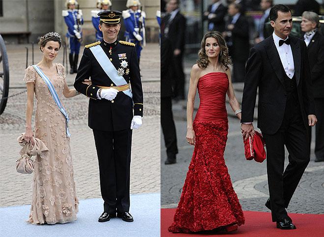 Los príncipes Felipe y Letizia muy elegantes en la boda de Victoria de Suecia