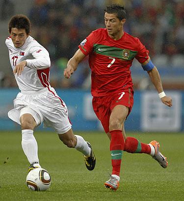 Cristiano Ronaldo en Portugal 7 Corea del Norte 0
