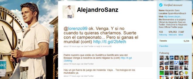 Alejandro sanz critica a jorge lorenzo