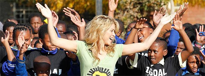La ceremonia de clausura del Mundial 2010 con Shakira y España