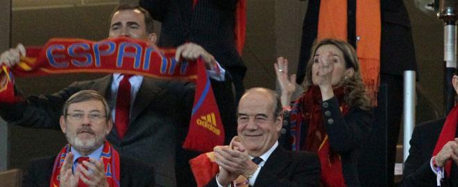 Felipe y doña letizia en la final del mundial