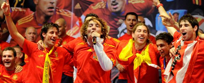 David bisbal canta con la seleccion en madrid