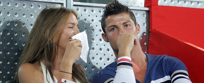 Cristiano Ronaldo e irina shayk en el baloncesto