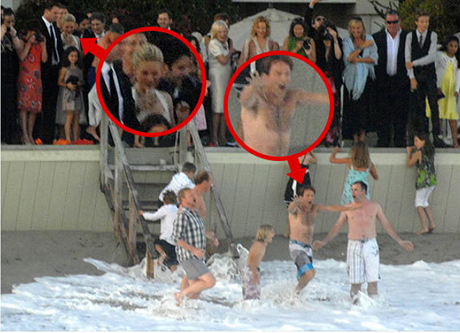 Stephen Moyer celebra su boda con Anna Paquin con un baño de mar