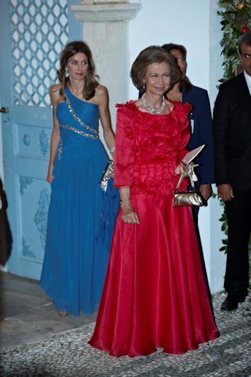 Los vestidos de letizia y doña sofia