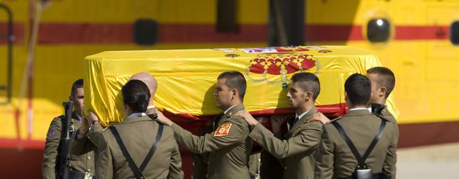 funerales guardias civiles asesinados en en Afganistán, Logroño