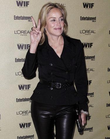 Sharon Stone en fiesta previa a los Premios Emmy 2010