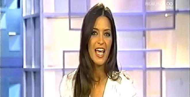Sara Carbonero habla en italiano para el canal premium calcio