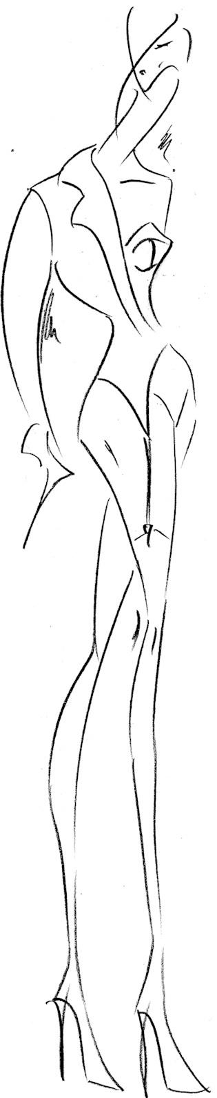 Boceto de andres sarda para cibeles 2011