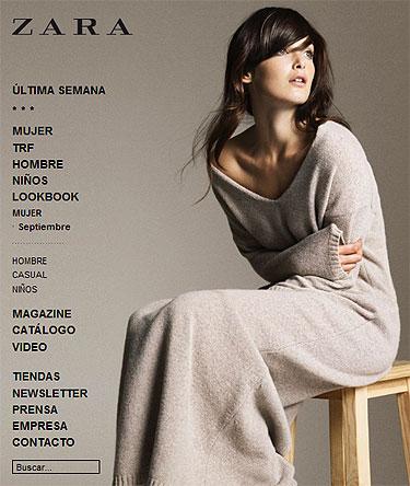 web Zara.com decepciona en su estreno