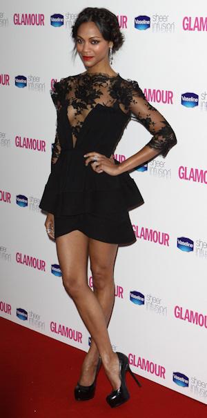 Zoe Saldana, la mejor vestida de 2010