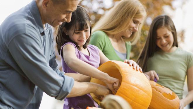 La decoración de las casas de Halloween