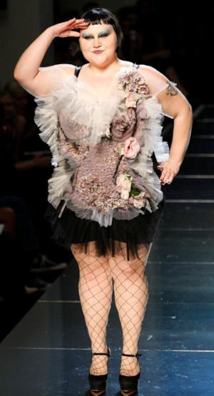 Beth Ditto en Paris Fashion Week