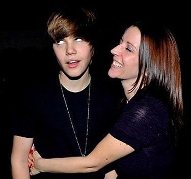 Justin Bieber con su madre Pattie Mallette