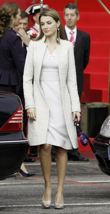 La princesa letizia en el dia de la hispanidad de 2008