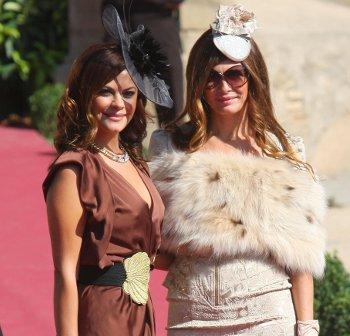 Maria Jose Suarez en la boda de Rafael Medina y Laura Vecino