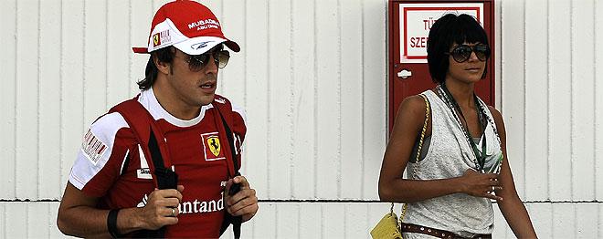 Fernando Alonso Raquel del Rosario Gran Premio de Corea