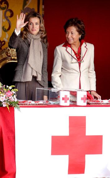Letizia en el dia de la cruz roja