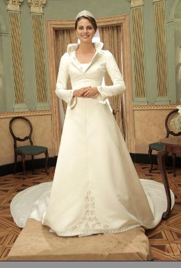 Amaia vestida de boda