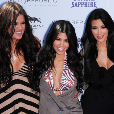 Kim, Khloe y Kourtney Kardashian hermanas