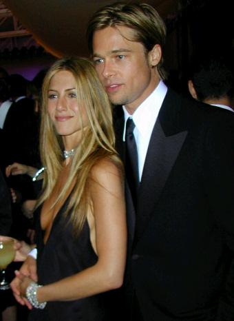 Brad Pitt y Jennifer Aniston cuando eran pareja