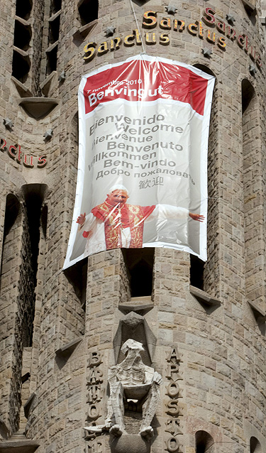 visita Papa Benedicto XVI a Barcelona