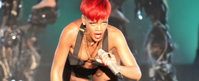 Rihanna en un concierto