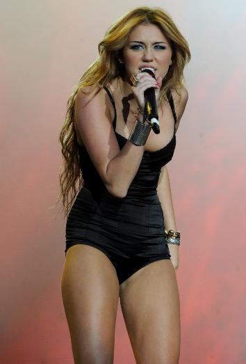 Miley Cyrus en un concierto