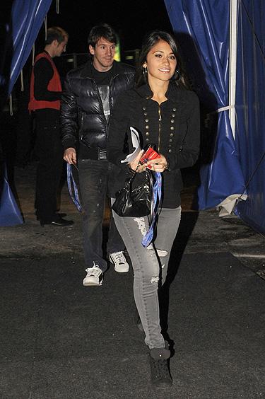 Leo Messi y su novia Antonella Roccuzzo en el Cirque du Soleil en Barcelona