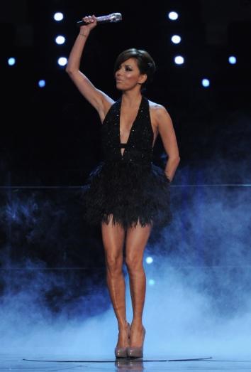 Eva Longoria durante la gala de los EMAs 2010
