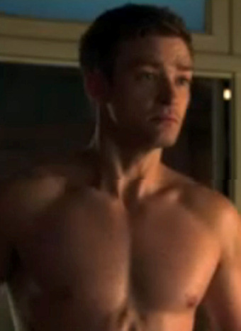 Justin Timberlake en el rodaje de Friends with benefits