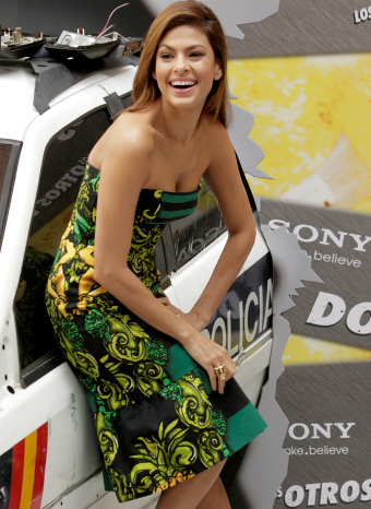 Eva Mendes promocionando su nueva película