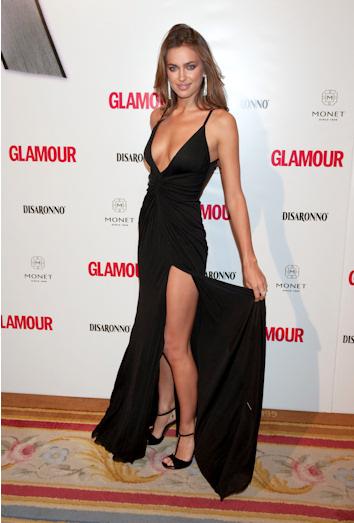 Irina shayk en los premios top glamour 2010