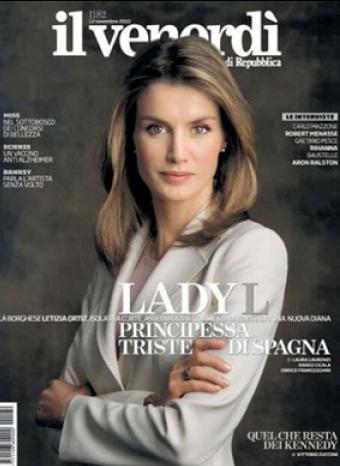 Letizia Ortiz en la portada de Il Venerdi
