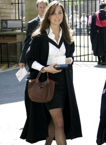 Kate Middleton en el acto de graduacion en St. Andrews