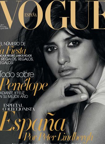Penélope Cruz,portada de Vogue España