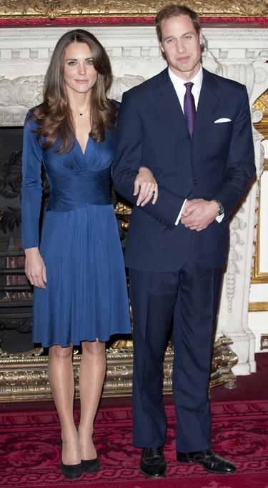 Kate Middleton y Príncipe Guillermo de Inglaterra el día de la pedida
