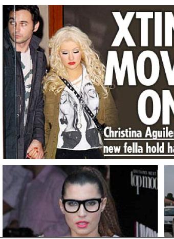 Christina Aguilera y su nuevo amor a la salida de un hotel
