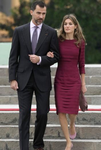 el principe y letizia a su llegada a Perú