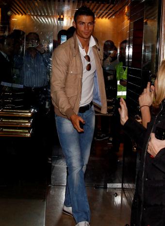 Christiano Ronaldo en la comida antes del clásico