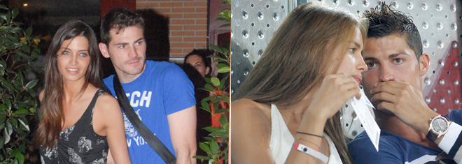 Sara Carbonero e Iker Casillas, e Irina Shayk y Cristiano Ronaldo