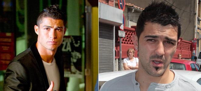 Cristiano Ronaldo y David Villa