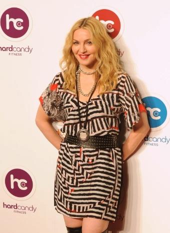 Madonna en la inaguración de su nuevo gimnasio en México