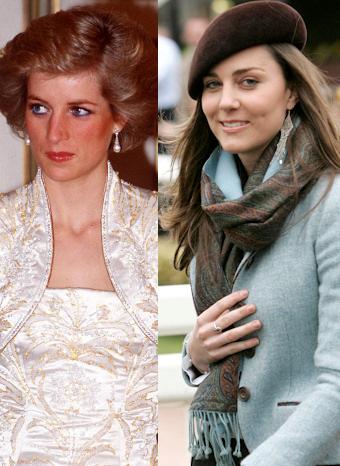 Kate Middleton y Diana de Gales